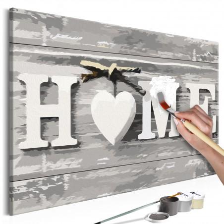 Quadro fai da te - Home (scritta) - Quadri e decorazioni