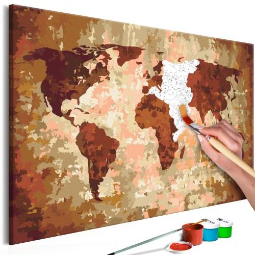 Quadro fai da te - Mappamondo (colori della terra) - Quadri e decorazioni