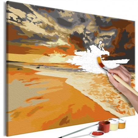 Quadro fai da te - Spiaggia d'oro - Quadri e decorazioni