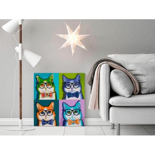 Quadro fai da te - Gatti con gli occhiali - Quadri e decorazioni