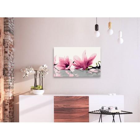 Quadro fai da te - Magnolia (sfondo bianco) - Quadri e decorazioni