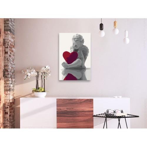 Quadro fai da te - Angioletto (cuore rosso) - Quadri e decorazioni