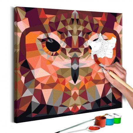 Quadro fai da te - Gufo geometrico - Quadri e decorazioni