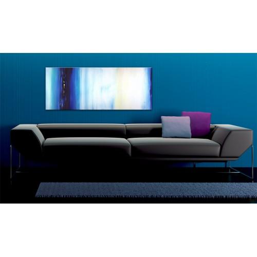 Quadro dipinto - Liquido blu - Quadri e decorazioni