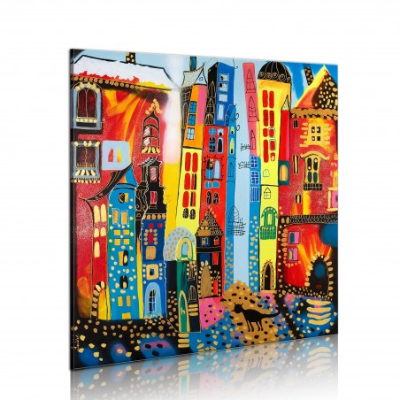 Quadro dipinto - strada magica - Quadri e decorazioni