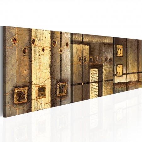 Quadro dipinto - Composizione dorata - Quadri e decorazioni