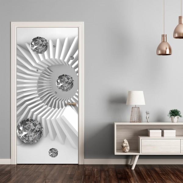 Fotomurale per porta - Photo wallpaper - Black and white abstraction I - Quadri e decorazioni