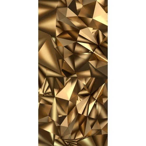 Fotomurale per porta - Photo wallpaper - Golden Geometry I - Quadri e decorazioni