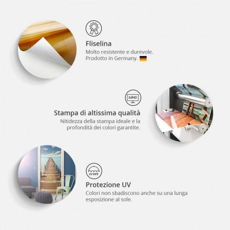 Fotomurale per porta - Photo wallpaper - Golden Geometry I - Quadri e decorazioni