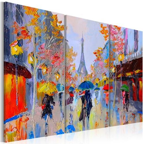 Quadro dipinto - Rainy Paris - Quadri e decorazioni