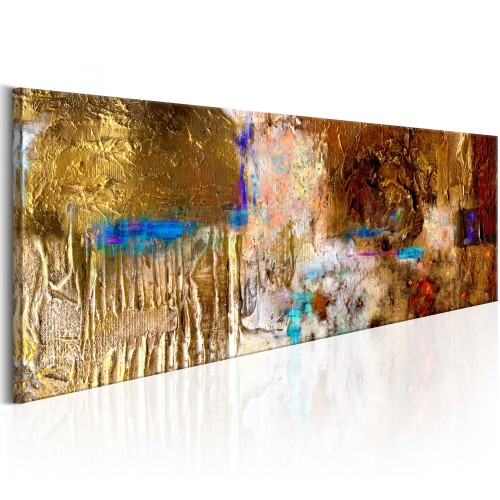 Quadro dipinto - Golden Structure - Quadri e decorazioni