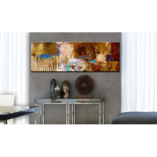Quadro dipinto - Golden Structure - Quadri e decorazioni