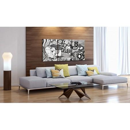 Quadro dipinto - Silver Kiss - Quadri e decorazioni