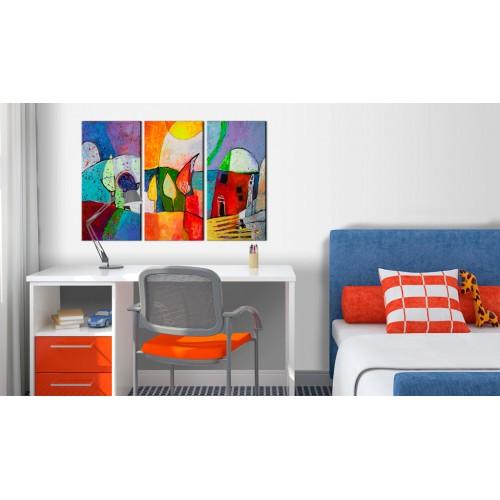 Quadro dipinto - Paesaggio colorato - Quadri e decorazioni