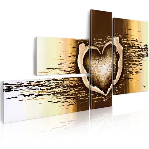 Quadro dipinto - Un volo d'amore - Quadri e decorazioni