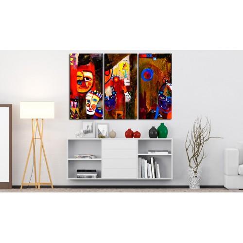 Quadro dipinto - Abstract Carnival - Quadri e decorazioni