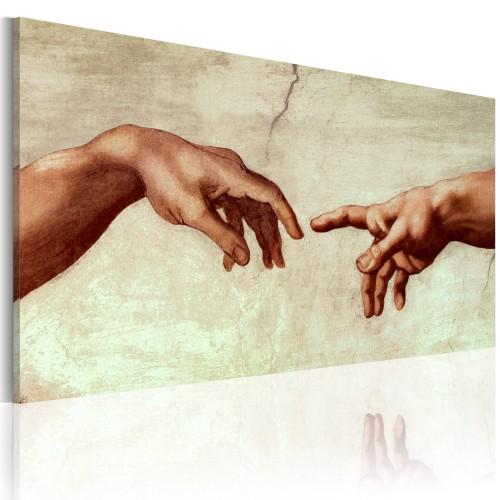 Quadro dipinto - La creazione di Adamo: frammento - Quadri e decorazioni