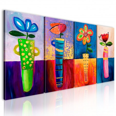Quadro dipinto - Colori dell'arcobaleno - Quadri e decorazioni