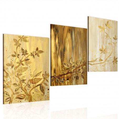 Quadro dipinto - Foglie d'oro - Quadri e decorazioni