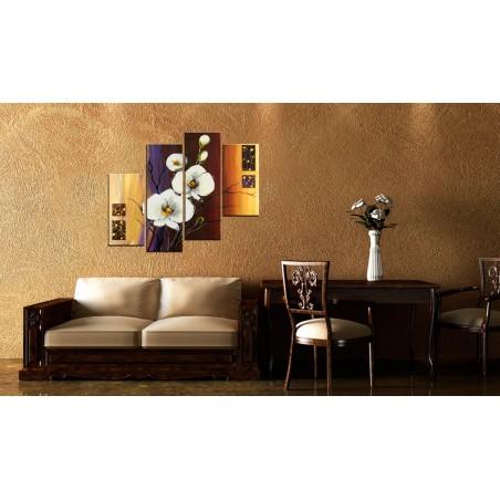 Quadro dipinto - Orchidea bianca - Quadri e decorazioni