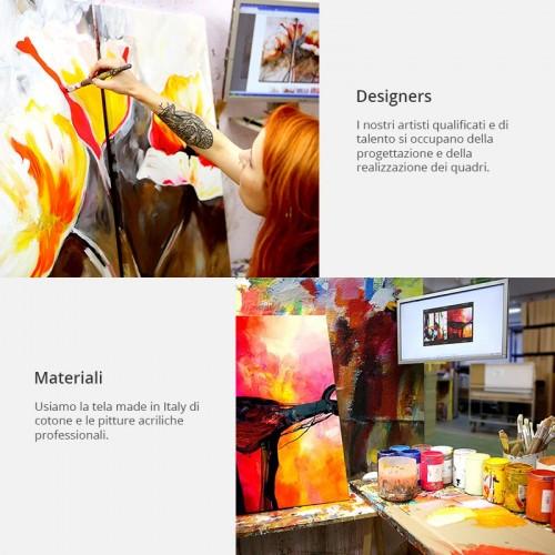 Quadro dipinto - prato rosso - Quadri e decorazioni