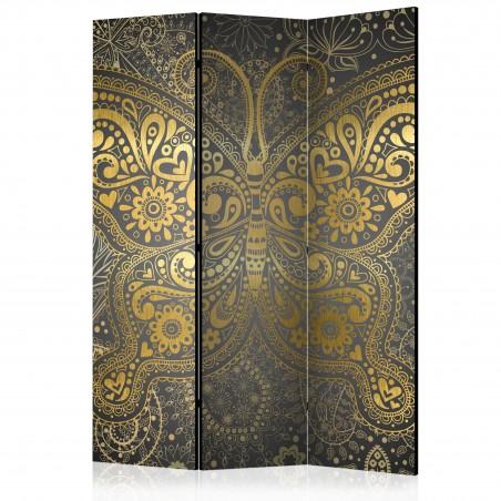 Paravento - Golden Butterfly [Room Dividers] - Quadri e decorazioni