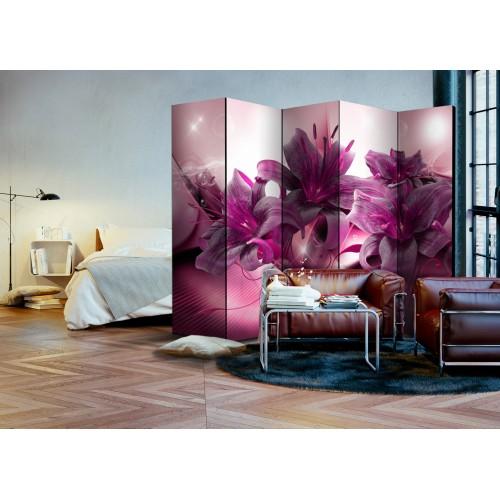 Paravento - The Purple Flame II [Room Dividers] - Quadri e decorazioni