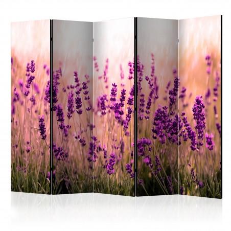 Paravento - Lavender in the Rain II [Room Dividers] - Quadri e decorazioni