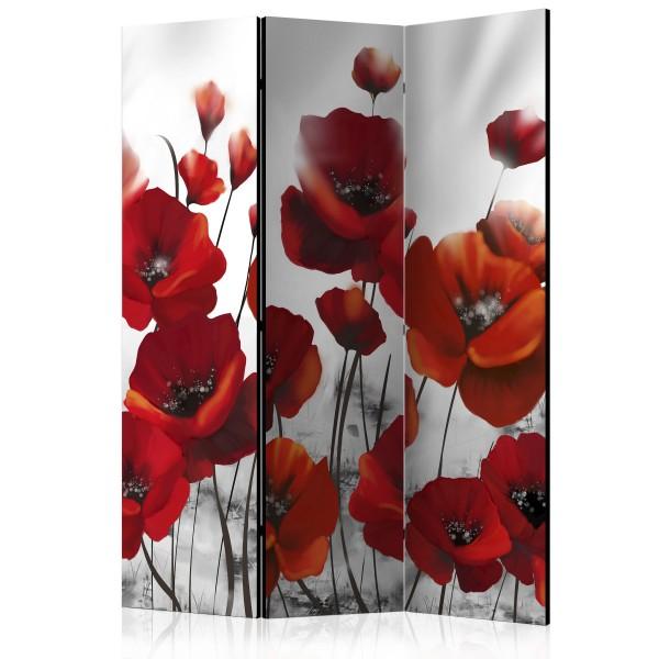 Paravento - Poppies in the Moonlight [Room Dividers] - Quadri e decorazioni