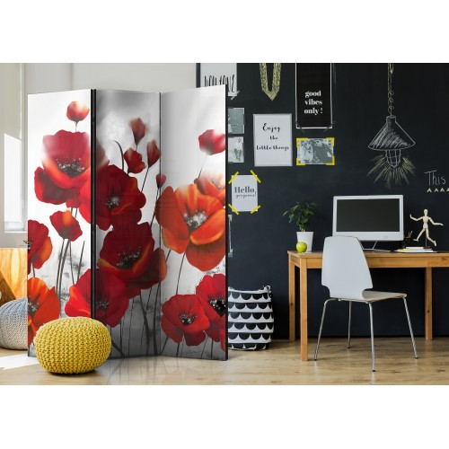 Paravento - Poppies in the Moonlight [Room Dividers] - Quadri e decorazioni