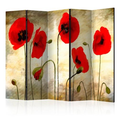 Paravento - Golden Field of Poppies II [Room Dividers] - Quadri e decorazioni