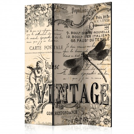 Paravento - Vintage Correspondence [Room Dividers] - Quadri e decorazioni