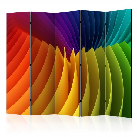 Paravento - Rainbow Wave II [Room Dividers] - Quadri e decorazioni
