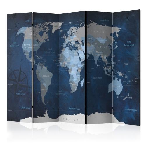 Paravento - Dark Blue World [Room Dividers] - Quadri e decorazioni