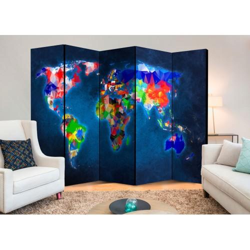 Paravento - Room divider – Colorful map - Quadri e decorazioni