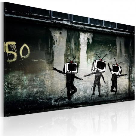 Quadro - Danza di teste sul piccolo schermo (Banksy) - Quadri e decorazioni