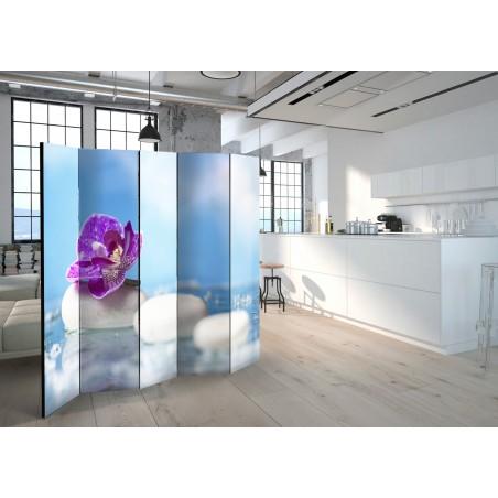 Paravento - Pink Orchid and white Zen Stones II [Room Dividers] - Quadri e decorazioni