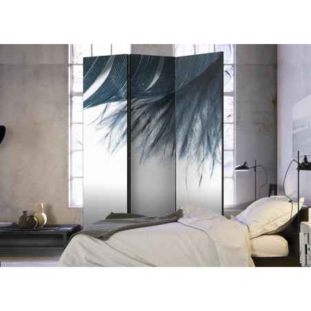 Paravento - Dark Blue Feather [Room Dividers] - Quadri e decorazioni