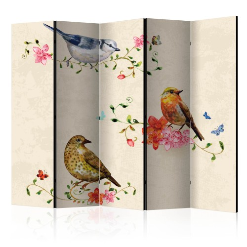 Paravento - Bird Song II [Room Dividers] - Quadri e decorazioni