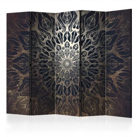 Paravento - Spider Web (Brown) II [Room Dividers] - Quadri e decorazioni
