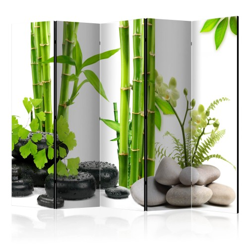 Paravento - Bamboos and Stones II [Room Dividers] - Quadri e decorazioni