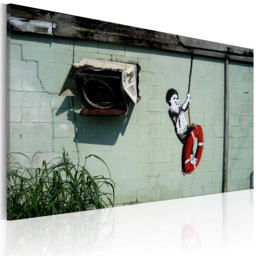 Quadro - Bambino in altalena (Banksy) - Quadri e decorazioni