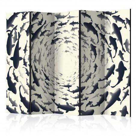 Paravento - Fish Swirl II [Room Dividers] - Quadri e decorazioni