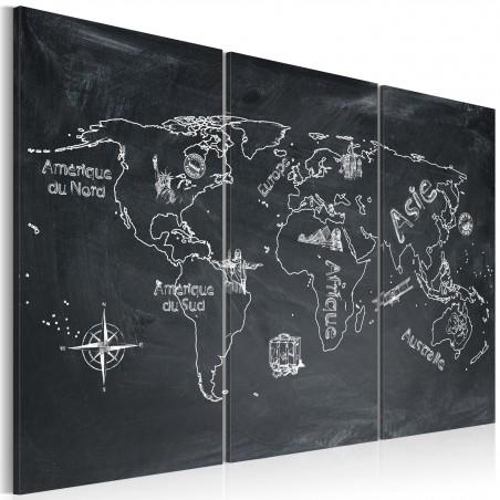 Quadro - Lezione di geografia (lingua francese): trittico - Quadri e decorazioni