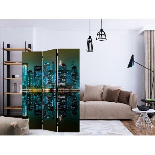 Paravento - Gold reflections - NYC [Room Dividers] - Quadri e decorazioni
