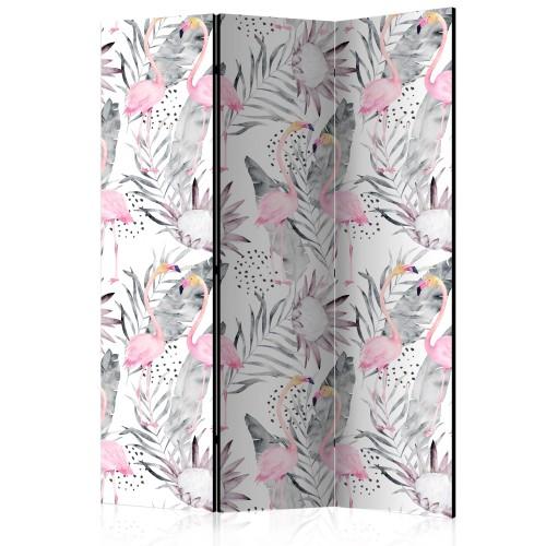 Paravento - Flamingos and Twigs [Room Dividers] - Quadri e decorazioni