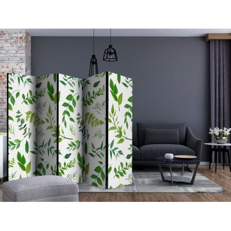 Paravento - Green Twigs II [Room Dividers] - Quadri e decorazioni