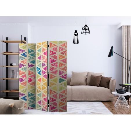 Paravento - Letters nad Triangles [Room Dividers] - Quadri e decorazioni