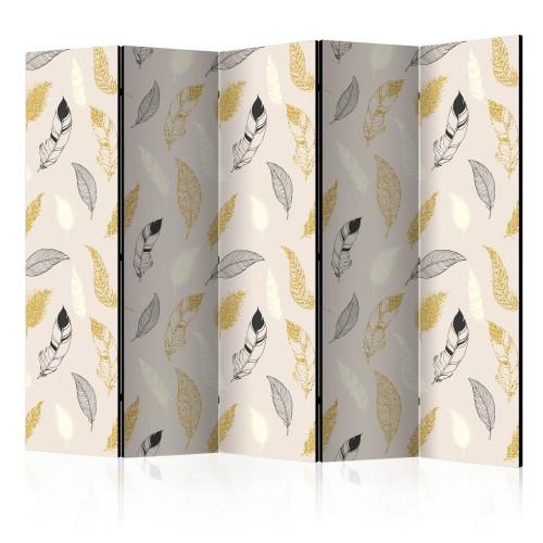 Paravento - Golden Feathers II [Room Dividers] - Quadri e decorazioni