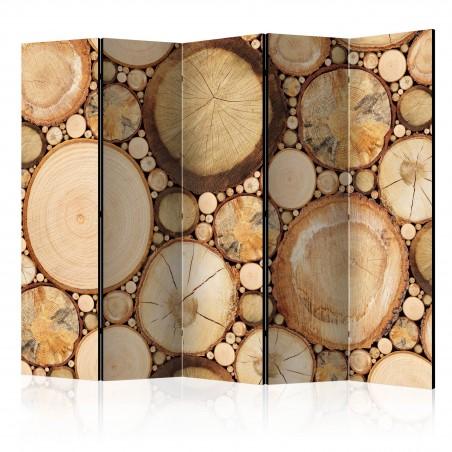 Paravento - Wood grains II [Room Dividers] - Quadri e decorazioni